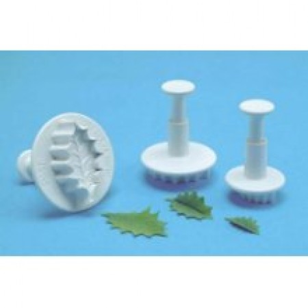 Veined Holly Leaf Plunger Cutter Set Of 3