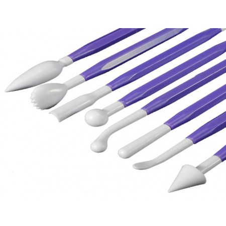 8 Purple Modelling Tools with Dual Edge.