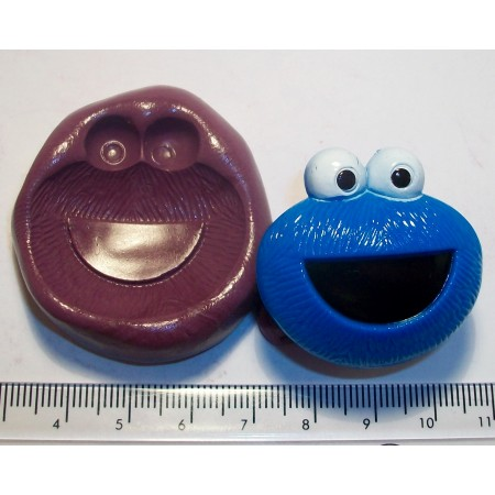 Cookie Monster Silicone Mould