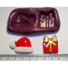Santa Hat & Present Silicone Mould