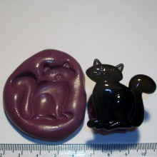Witch Cat Cake Decoration Silicone Mould