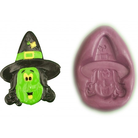Witch's Head Cake Decoration Silicone Mould