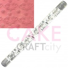 Daisy Garland effect Texture Embossing Acrylic Rolling Pin