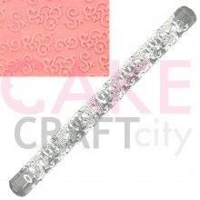 Entwined Swirls effect Texture Embossing Acrylic Rolling Pin