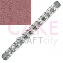 Entwined Vines effect Texture Embossing Acrylic Rolling Pin